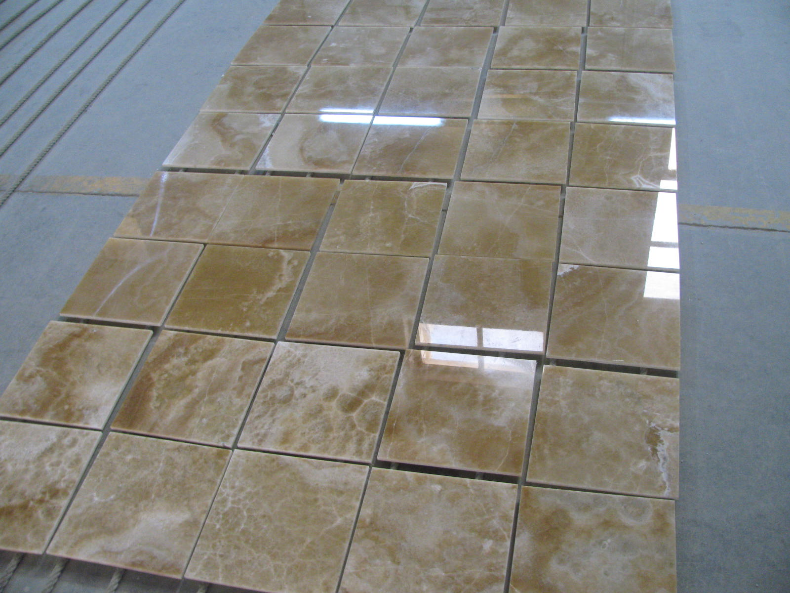 Brown Onyx Tiles Polished Beveled 12x12x38 Marble Tile Direct