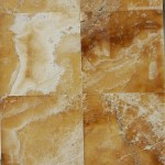 "BROWN ONYX TILES POLISHED & BEVELED 12""X12""X3/8"""