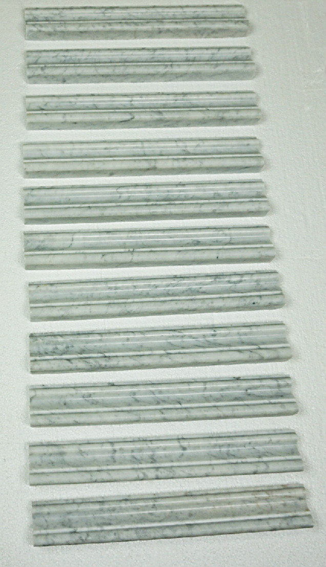 Carrara Molding Polished Chair Rail Marble Tile Direct