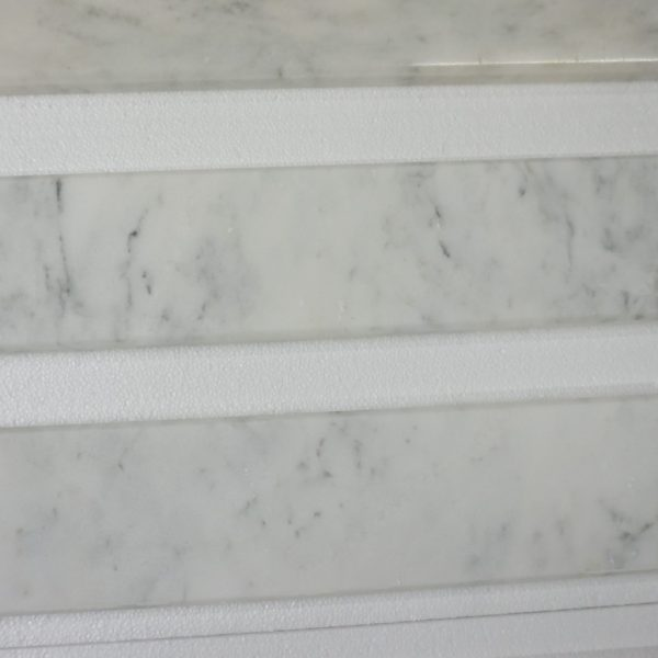 Marble Floor Saddle : Carrara saddles polished quot x marble tile direct